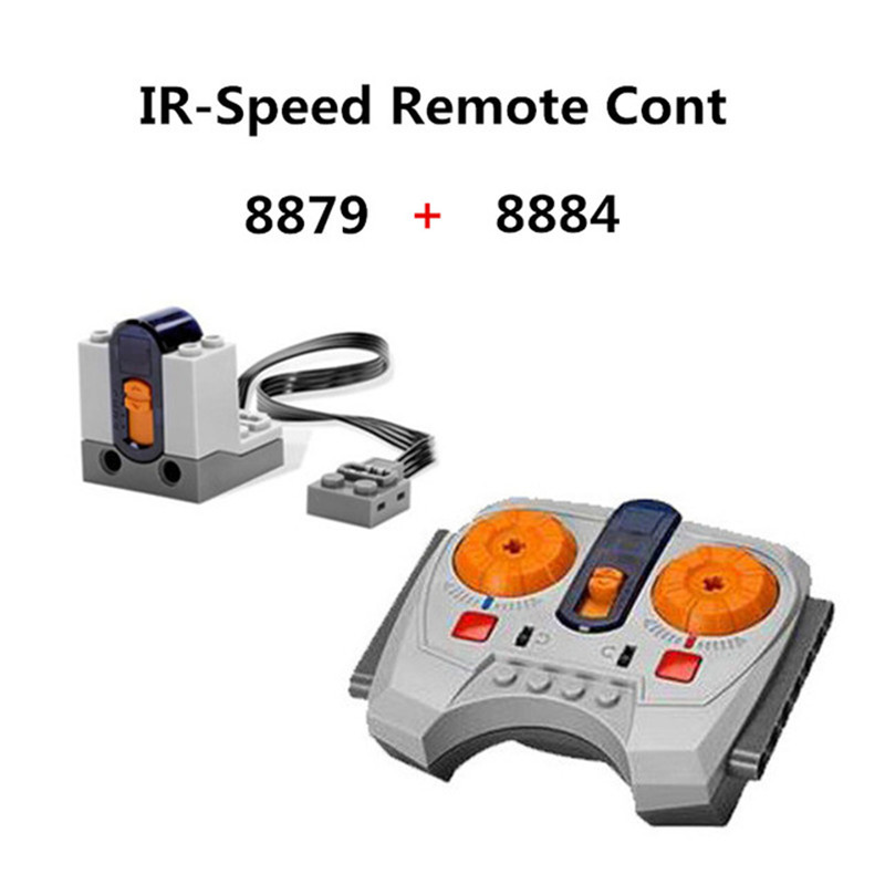 8879+8884 Variable IR-Speed Remote Cont Power Machinery Wireless Receiver Building Blocks Technic Educational Toys For Children