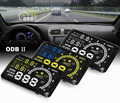 "5.5"" Large Screen Auto Car HUD Head Up Display KM/h MPH Overspeed Warning Windshield Projector Alarm System OBD 2 Port CY114-CN"