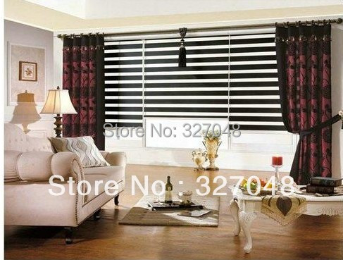 Aliexpress Buy FREE SHIPPING Popular Zebra Blinds Hanging Screen Room Divide Double Layer Roller Curtain Fabric Window From