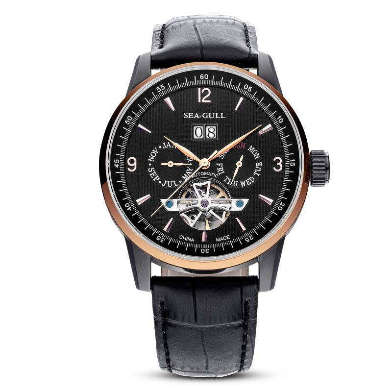 Leisure Automatic Authentic Leather Automatic Leather Watch бар - Ерлердің сағаттары - фото 2