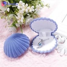 Flannelette  65*55*30mm Ring Necklace Earring Box Velvet Gift Display Jewellery Case