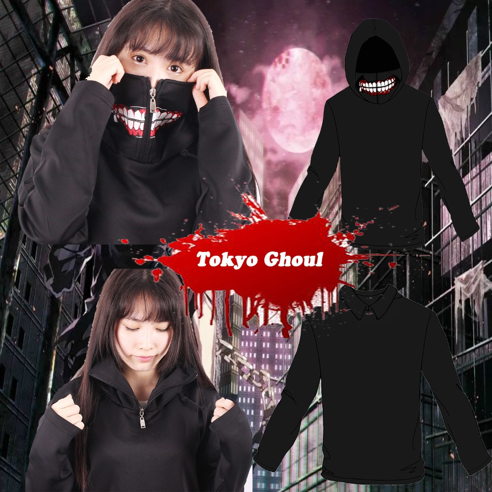 2016 men new anime Tokyo Ghoul 2nd cosplay costume Sweater hoodies Jackets