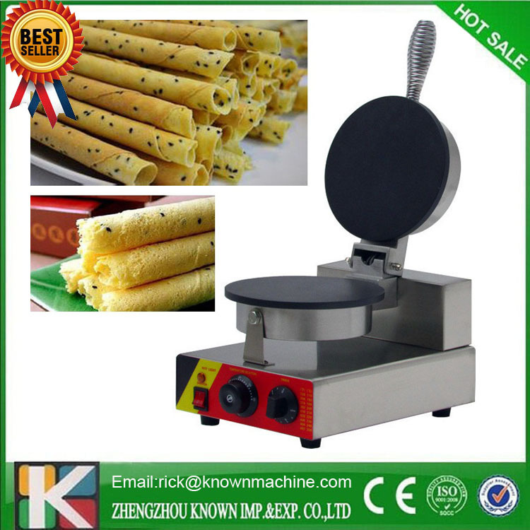 electric egg roll biscuit machine for sale with CE certification stainless steel automatic egg roll machine for sale