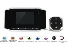3.5 ЖК цифровое видео 4-кратный зум 120 широкоугольный авто телезритель двери глаз дверной звонок камера глазок обнаружения движения ночного видения