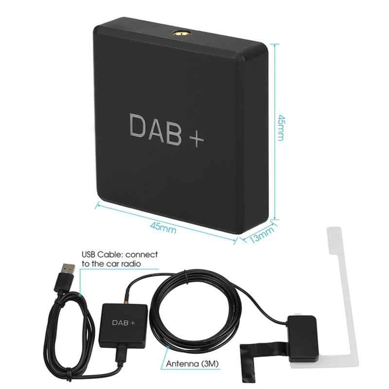 Auto DAB Adapter Stereo Digitale Radio Ontvanger Doos Amplified Antenne USB Charger Adapter, Multifunctionele Adapter Ontvanger