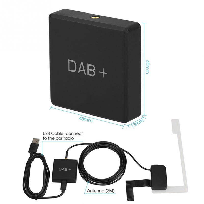 Car DAB Adapter Stereo Digital Radio Receiver Box Amplified Aerial <font><b>Antenna</b></font> <font><b>USB</b></font> Charger Adapter,Multifunction Adapter Receiver image