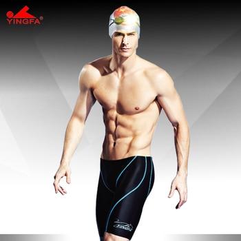 15c5675bba95 Yingfa alta calidad a prueba de agua, resistente al cloro carreras hombres  natación jammer hombres traje de baño natación troncos