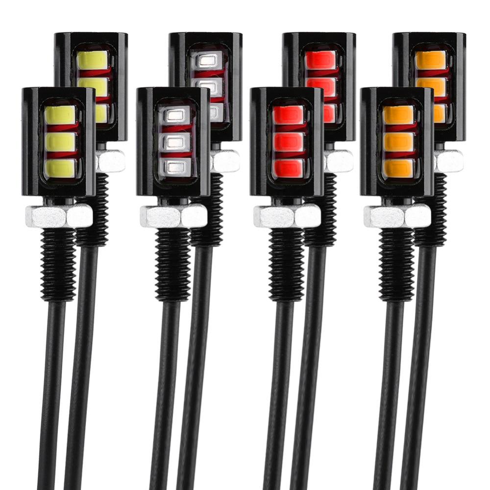 US $3 0 18% OFF 2x 12V 3LED Motorcycle License Number Plate Lamp Light  Screw Bolt Light Lamp White LED Universal Lamp DRL Running Light New on