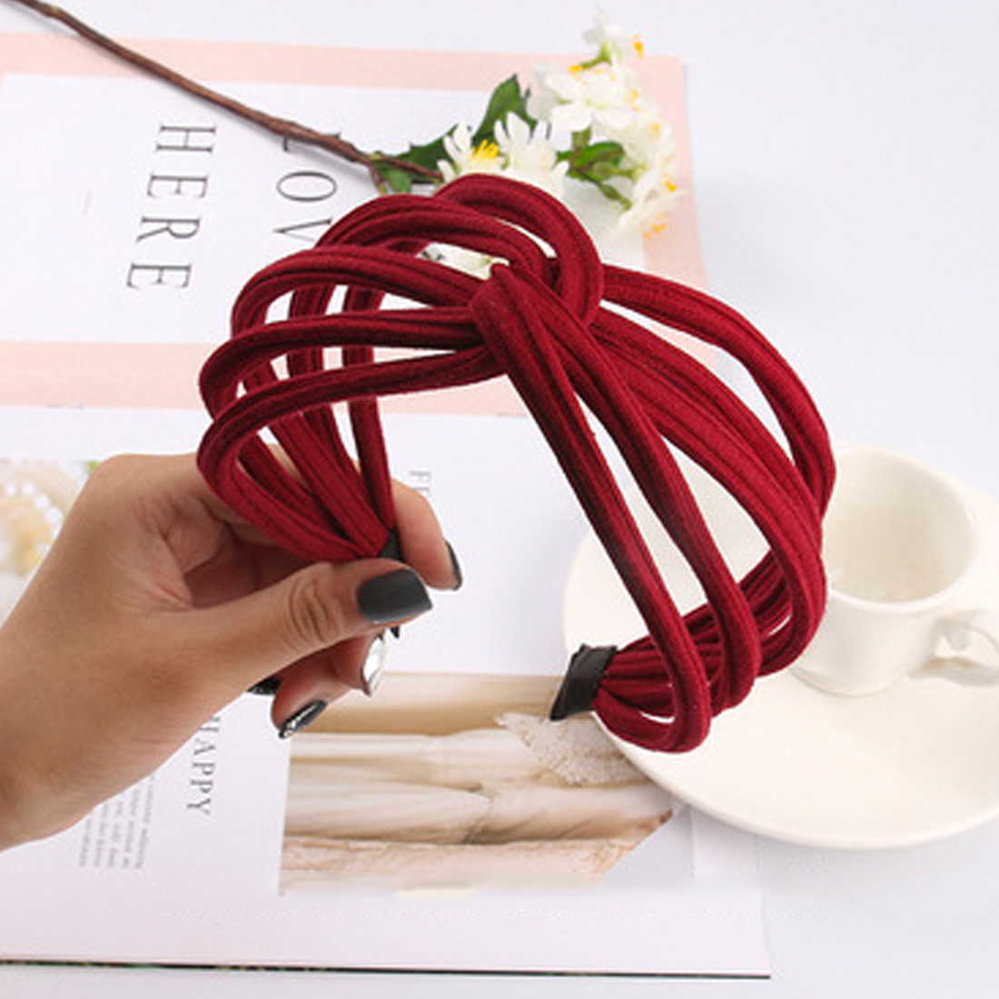 Hair Hoop Novelty Fashion Cute Contracted Cloth Art Headband Hairband For Women Girls Bezel Head Accessories Headdress
