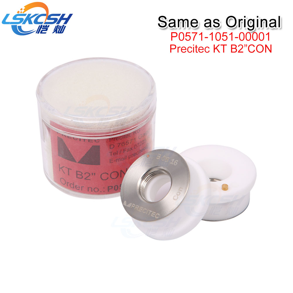 LSKCSH same quality as original Precitec ceramic/nozzle holder KT B2 CON P0571-1051-00001 for Precitec fiber laser cutting head lskcsh 10pcs lot wsx precitec fiber laser ceramic ring nozzle holder wtc 02 mini cutting head high quality wholesale agents