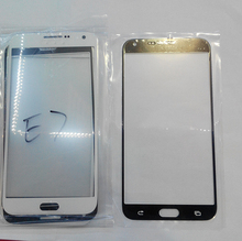 Brand New 10pcs/lot For Samsung Galaxy E7 E7000 Front Glass Outer Lens Glass Replacement Blue White Color Free Shipping