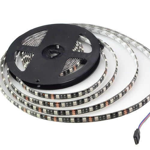 5 м/рулон Черная печатная плата водонепроницаемый Светодиодный светильник 5050 SMD IP65 12 В гибкий светильник RGB теплый белый 60 светодиодов/м