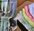 [Bosudhsou] dka-16 Girl Pencil Pants Children Clothing Fashion Casual Kids Cotton Blended Pant Candy Color Summer Capris Slim le