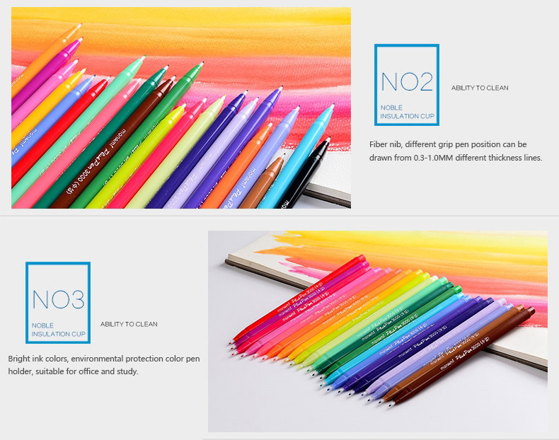 de fibra de água caneta pintura estudante caneta neutra