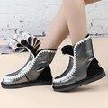 Venda por atacado/varejo 2017 hot sale clássico botas de neve genuína pele de Carneiro das mulheres botas de moda quente sapatos à prova d' água para as mulheres