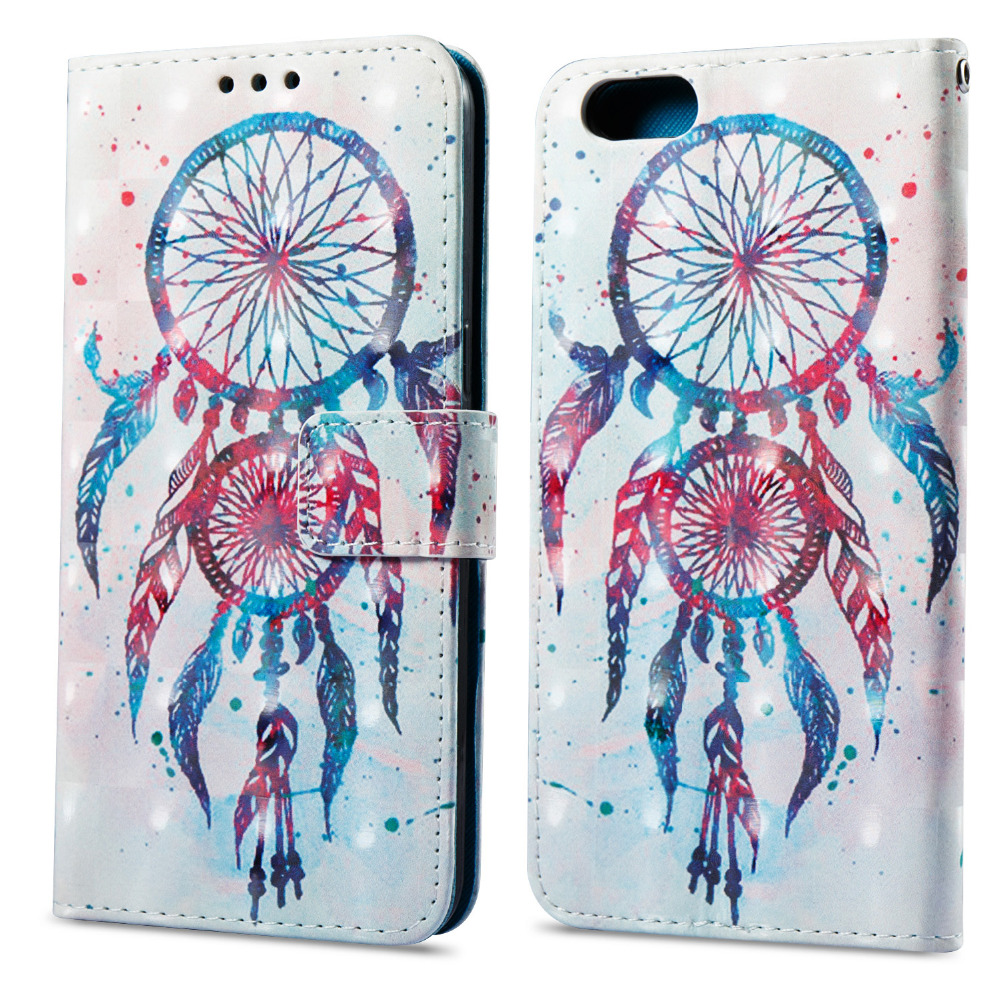 Stand Holder PU Leather Flip Wallet Phone Case For Oppo A57 A59 R9S R11 Cover Fundas Coque 3D Flower Owl Butterfly Skull Design