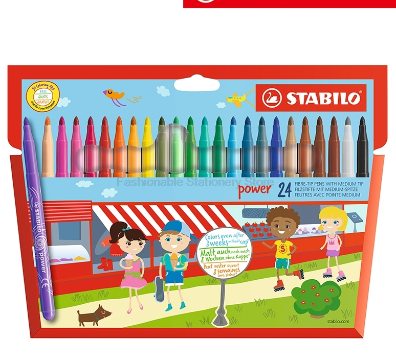 Stabilo 280 12/15/18/24/30 Colors Watercolor Marker Pen Colored Pen School Stationery Office Supply Drawing Art Marker Pens 12 18 24 30 colors set germany stabilo 280 washable drawing painting pen colored markerpen highlighter pen students art painting