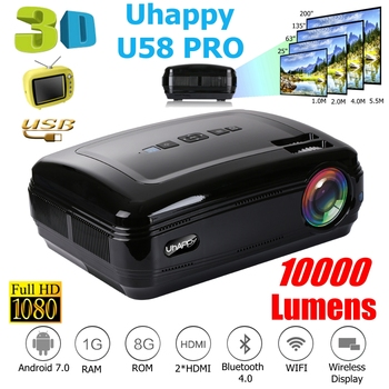 10000 Lumens 1080P Mini Projector 3D LED Home Cinema Theater Projector TV/AV/VGA/HDMI Beamer For Home Theatre Movie