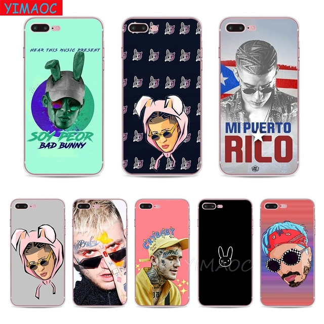 check out 2d134 e7829 US $1.98 29% OFF|YIMAOC Bad Bunny Maluma Lil Peep Soft TPU Silicone Case  Cover for iPhone 8 7 6 6S Plus 5 5S SE X XS Max XR Coque Shell Cases-in ...
