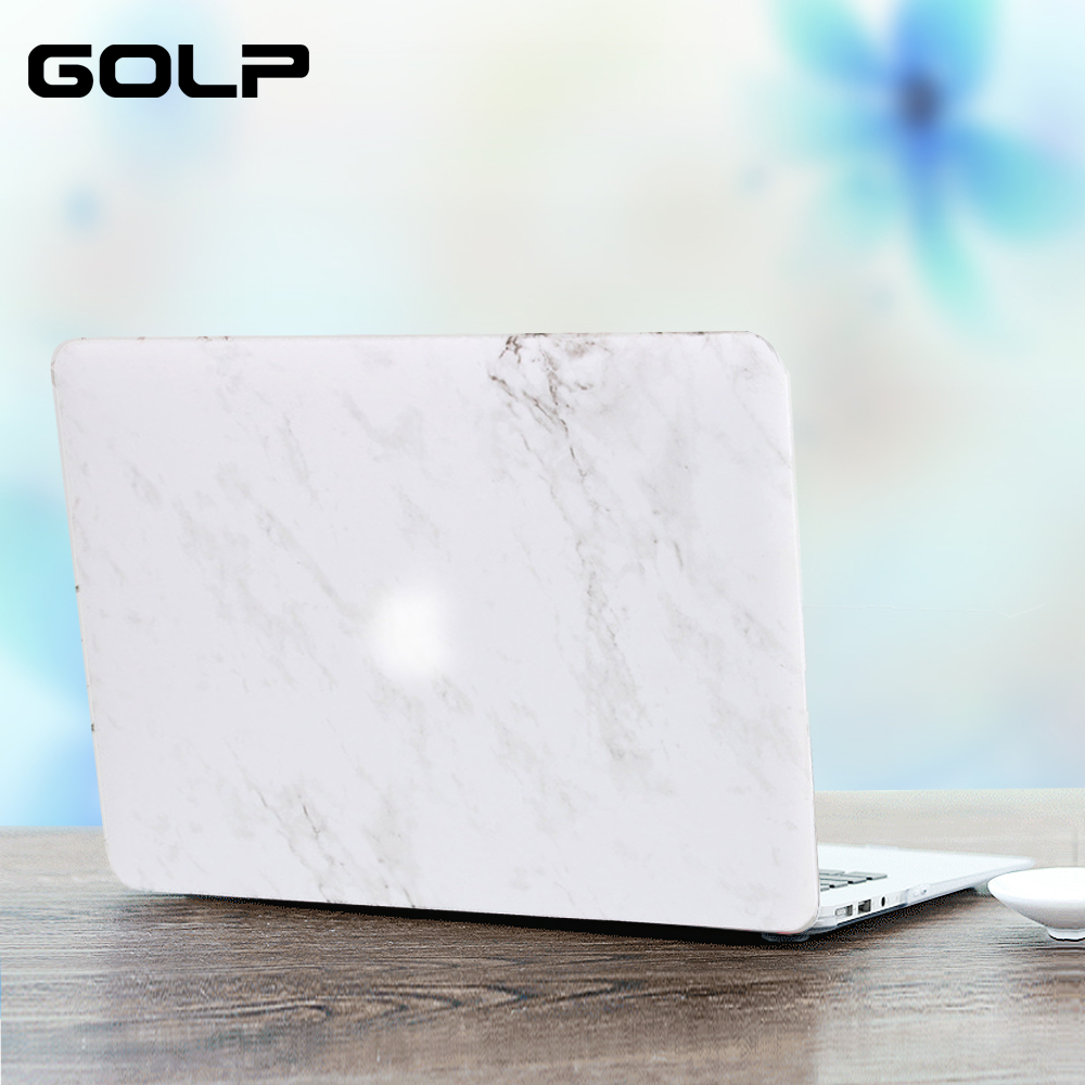 Marble Pattern Laptop Case For Macbook Air 13 12 11 15 Pro Retina 13.3 15.4 GOLP Hard PC Back cover for Macbook Pro 15 13 Case hard case protective pc back cover for blackview a8 white