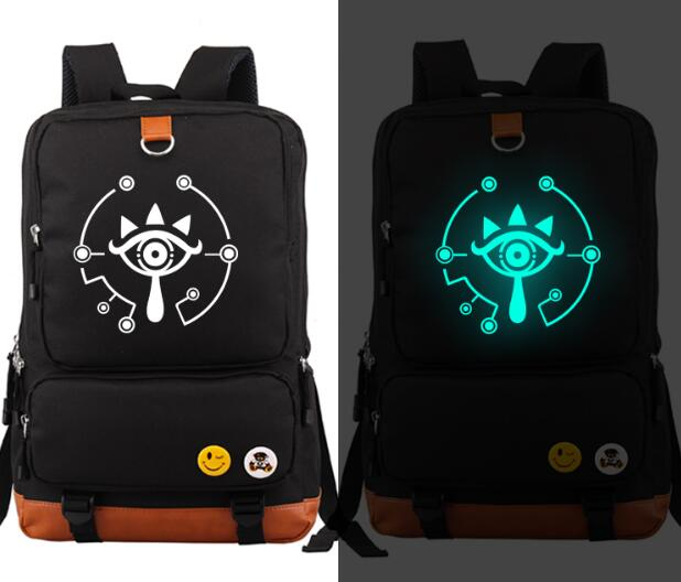 Anime The Legend of Zelda Luminous Light Backpack Bag Breath of the wild Eye Fashion Canvas Student  Schoolbag anime the legend of zelda backpack bag school bag shoulder bag cosplay bag a style