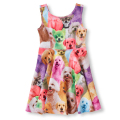 3D Print Baby Girls Dresses Kids Clothes Children Dress For Girls Clothes Cute Animals Dog Cat Rabbit Cotton Kids Dress