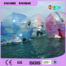 Free logo inflatable water walking ball/water zorb ball/water rolling ball