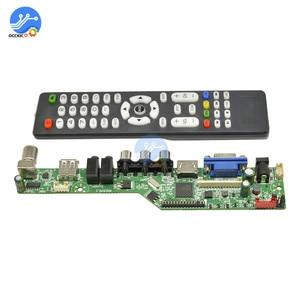 Upgraded Digital Signal LCD TV Controller Driver Board VGA/HDMI/AV/TV/USB Interface Driver Board with English Remote control(China)