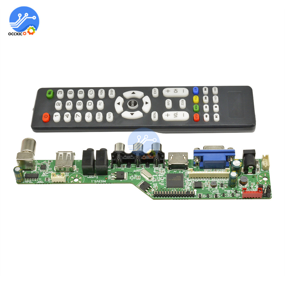 Upgraded Digital Signal <font><b>LCD</b></font> <font><b>TV</b></font> Controller Driver <font><b>Board</b></font> <font><b>VGA</b></font>/<font><b>HDMI</b></font>/<font><b>AV</b></font>/<font><b>TV</b></font>/<font><b>USB</b></font> Interface Driver <font><b>Board</b></font> with English Remote control image