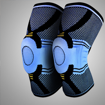 2pcs Silicone anti-collision sports knee guard basketball running spring support outdoor mountaineering riding protective gear