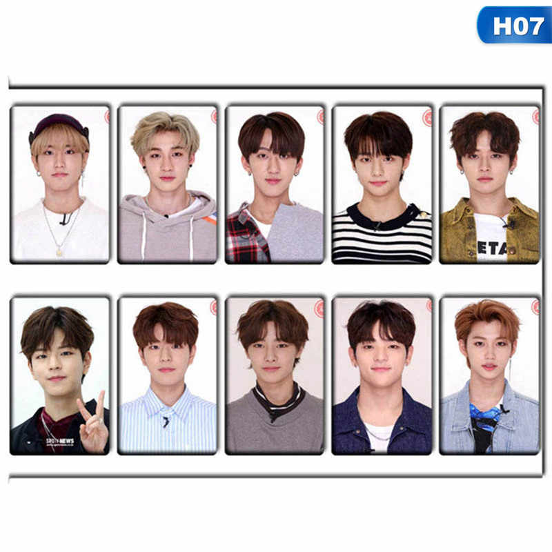 10pcs set K POP STRAY KIDS Sticky Photo Cards New Fashion Frosted Bus Card Stickers Gift.jpg q50