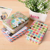 Multi Color Storage Box Square Sealed Cans Coffee Tea Tin Iron Container Fashion Vintage Boxes Cartoon
