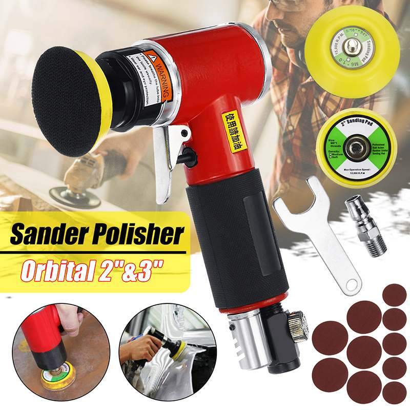 Mini 5 Inch High-speed Pneumatic Sanding Machine Air Sander with Push Switch and Sanding Pad for Polishing Grinding ToolsMini 5 Inch High-speed Pneumatic Sanding Machine Air Sander with Push Switch and Sanding Pad for Polishing Grinding Tools