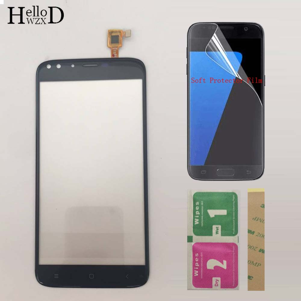 5.5' Phone TouchScreen Touch Screen For Oukitel U22 Touch Screen Digitizer Lens Sensor Front Glass Panel Protector Film 3M Glue