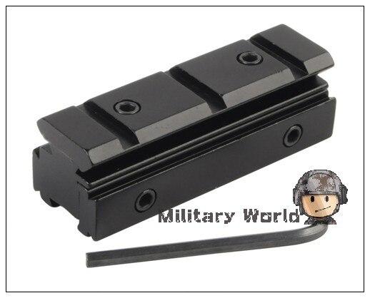 2 unids/lote Táctico Militar Airsoft Carril Accesorio de cola de Milano de 11mm