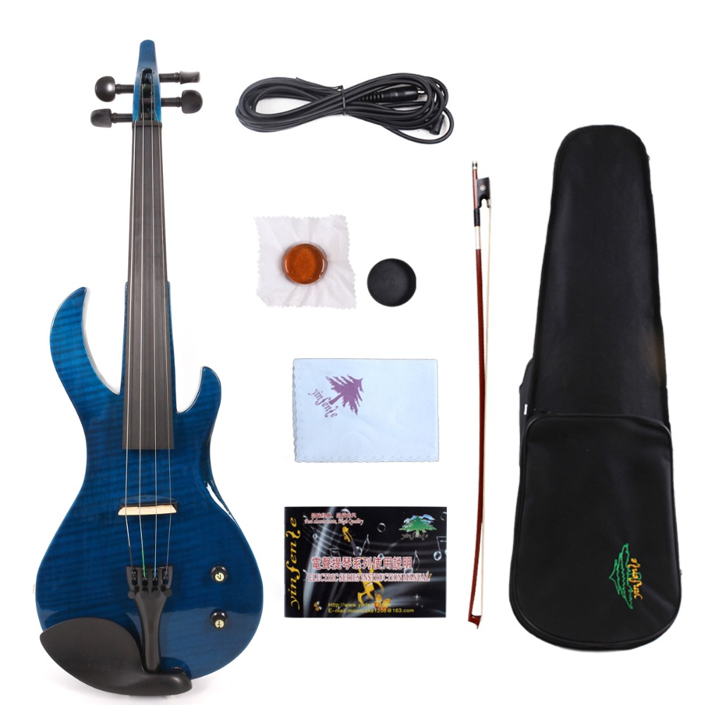 brid neck 4 string Electric Violin 4/4 Yinfente Beautiful Timbre Free Case+Bow+Cable #E20