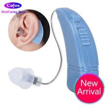 Cofoe BTE Hearing Aid Boleh Dicas semula Penguat Bunyi Telinga Digital Ear Aids Alat Dengar Alat Pembantu Penolong untuk Rugi Pendengaran