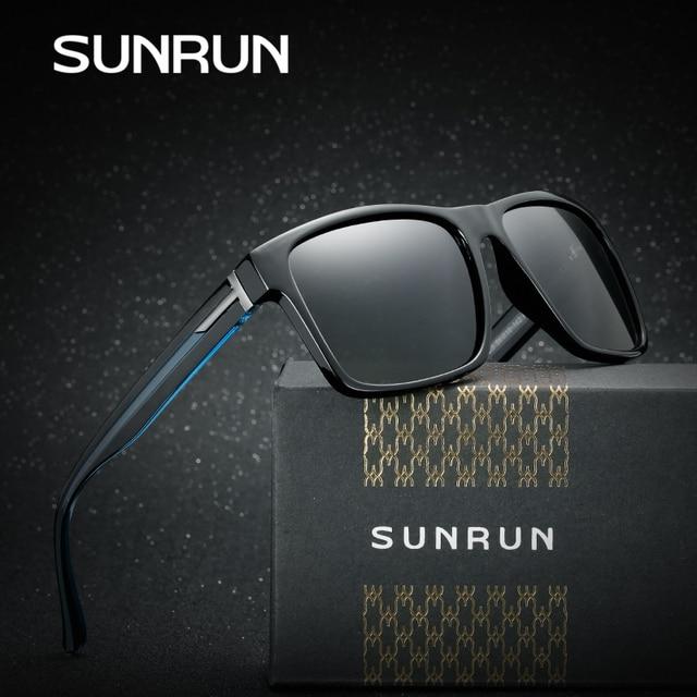 SUNRUN Lente Recubrimiento gafas de Sol Polarizadas de Los Hombres Classic  Vintage Oculos gafas Gafas de a5e7f2060b3f