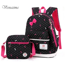 backpacks for school girls school bags pink sweet backpack  orthopedic school bag set school back pack for first class WM576LH