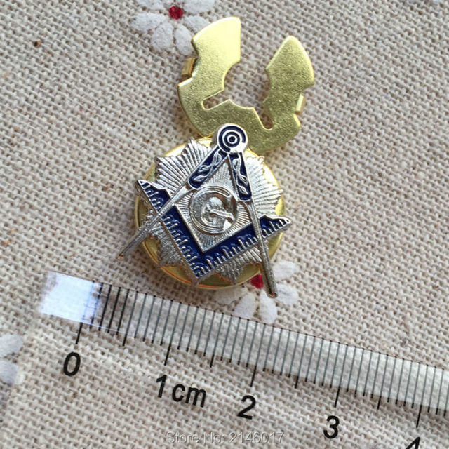 US $45 0 |20pcs Masonic Blue Lodge Square and Compass with Sunburst Badges  for Certificate Card Rope Button Lapel Pin for the Freemason-in Buttons