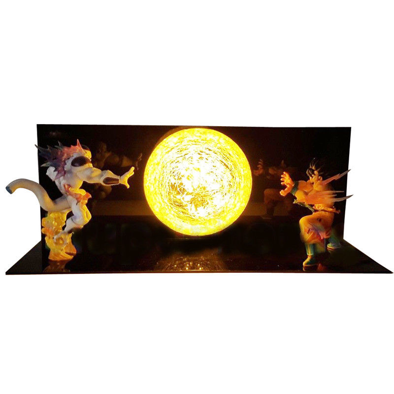 RARE Dragon Ball Z Freeza & GOKU Power Up lumière LED lampe figurine ensemble entier jouet cadeau Collection