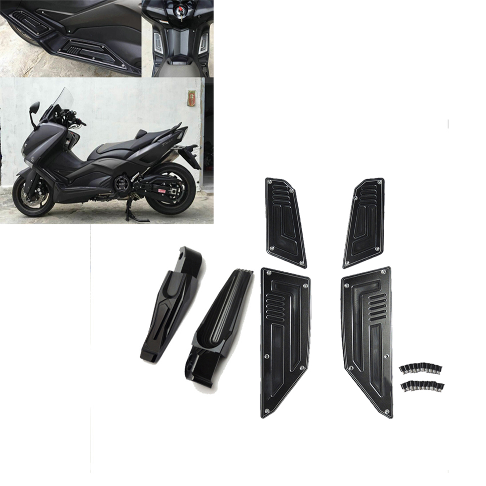 6pcs/1set Foot Rearset Footrests Foot Pegs Pedals Motorcycle For Yamaha Tmax 530 T Max 530 2012 2013 2014 2015 2016