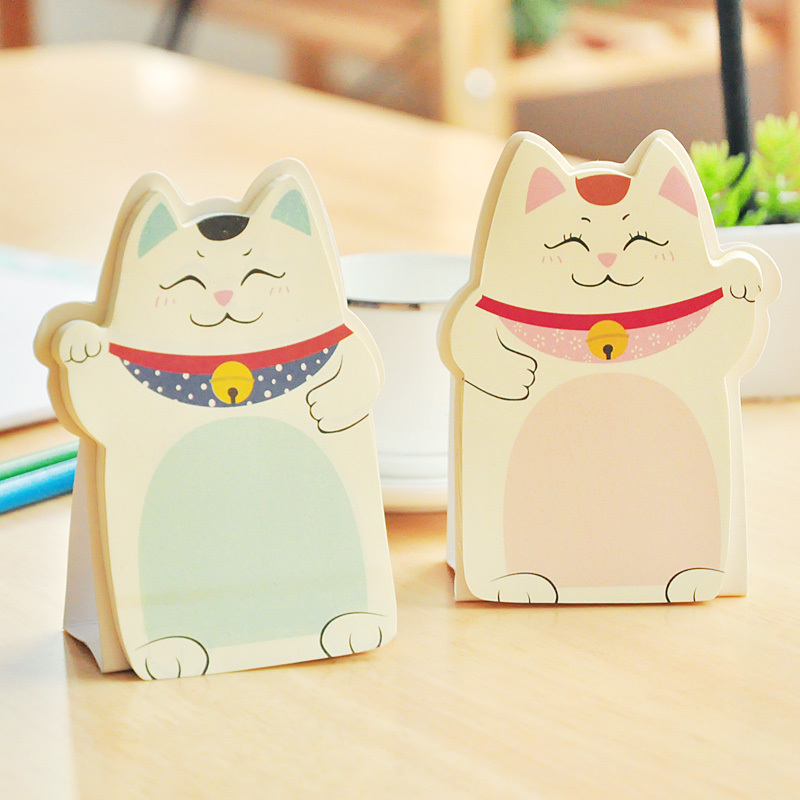 6 pcs/Lot Kawaii fortune Cat memo pad Table Posti it notes stationery office supplies School supplies 200 sheets 2 boxes 2 sets vintage kraft paper cards notes filofax memo pads office supplies school office stationery papelaria