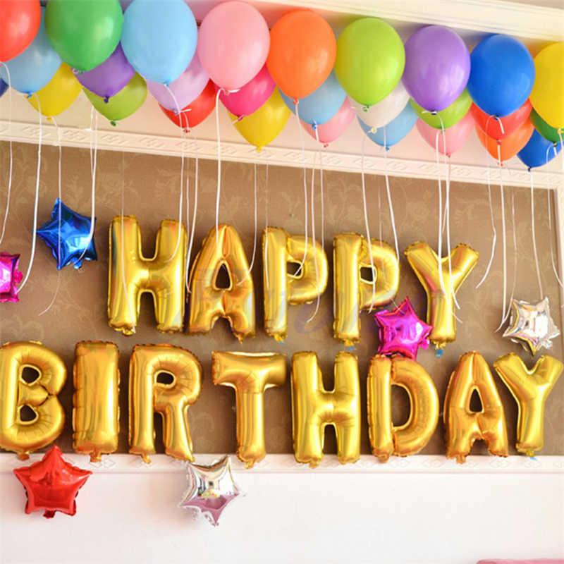 16 cal złoty balony foliowe w kształcie liter nadmuchiwane helem aluminium piłka wesele ozdobny balon z okazji urodzin strona dostaw