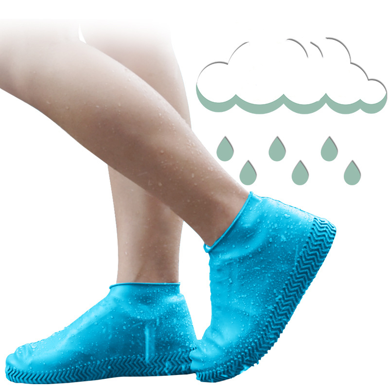 1 Pair Silicone Waterproof Shoe Covers Reusable Overshoes Non-slip Flats Ankle Boots Rain Shoes Protectors For Raining Outdoor