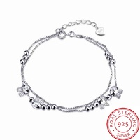 Free Shipping aliexpress 925 silver Charms bracelet cat beads pulseiras margarida STVH020