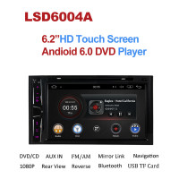 HD 2GB RAM Quad Core Android 6.0 Car DVD Player Universal Double 2din 2 din GPS Navigation Radio Stereo Autoradio Multimedia