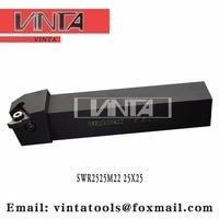 Free shipping SWR2525M22 External Threading Toolholder for Inserts ISO Standard 22ER