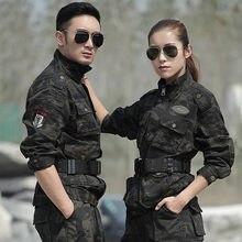 Uniforme militar tático roupas de camuflagem inverno algodão quente terno dos homens preto falcão eua uniformes do exército roupas de caça feminino