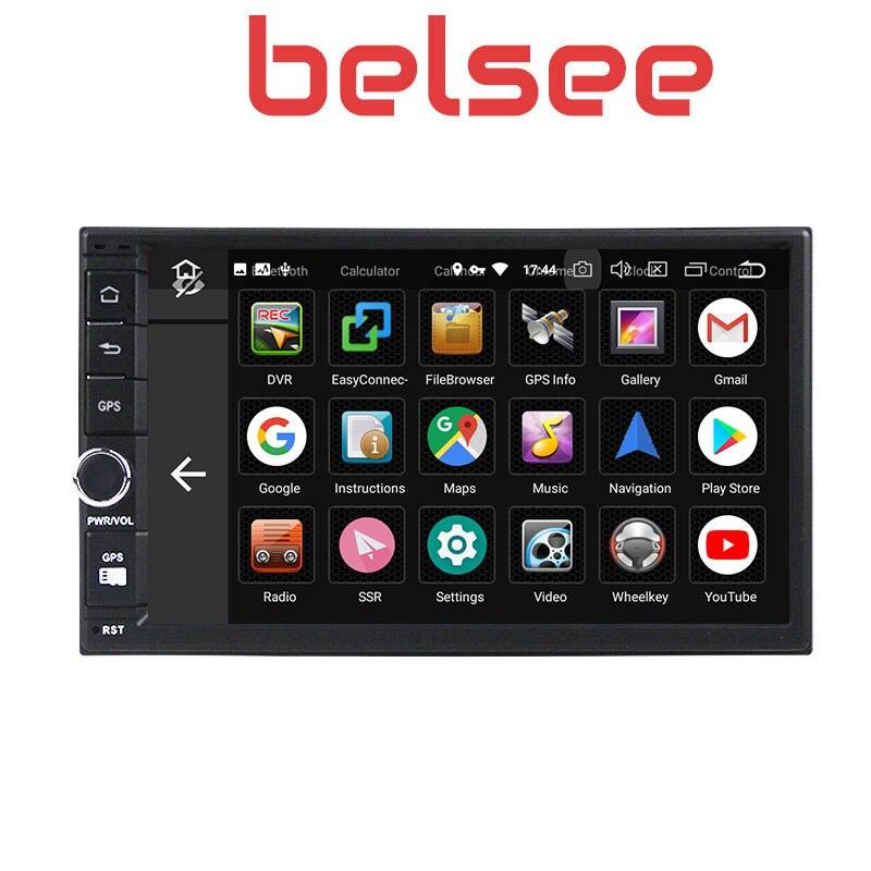 Belsee Melhor Duplo Din Unidade de Cabeça para Android 9.0 Din Som Do Carro Auto 2019 GB Ram 2 4 7 universal Sistema de Navegação GPS Rádio Do Carro - 3